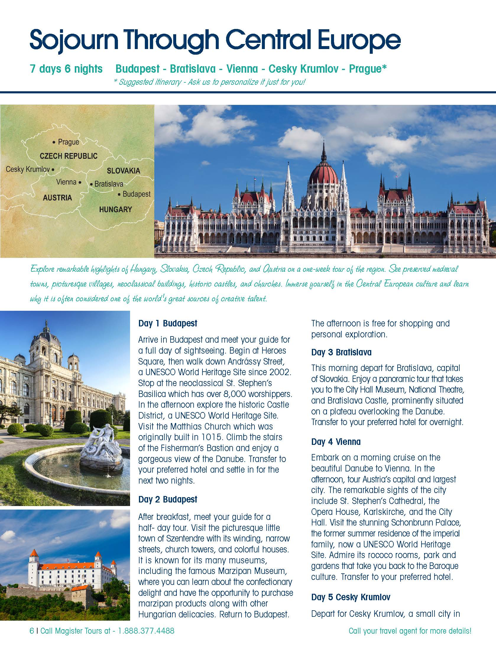 Central Europe & Beyond Brochure - Magister Tours-Tours through