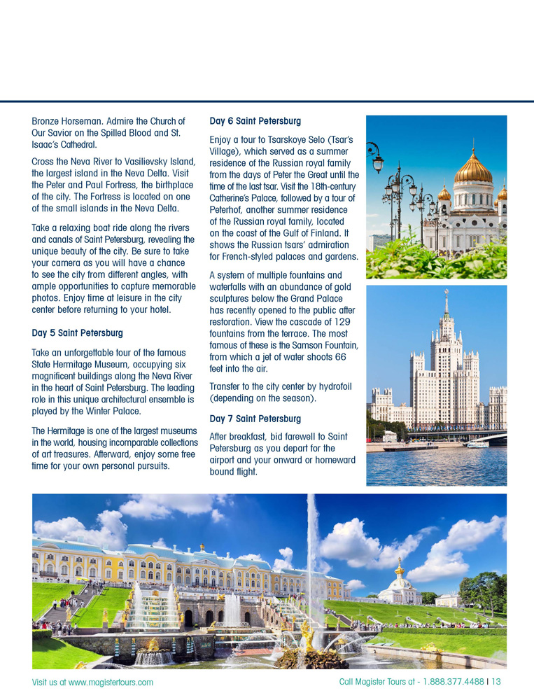 Central Europe Amp Beyond Brochure Magister Tours Tours